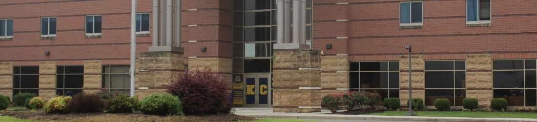 Exterior of Knox Central High showing entrance