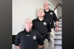 Knox County's three resource officers standing at Central Office.