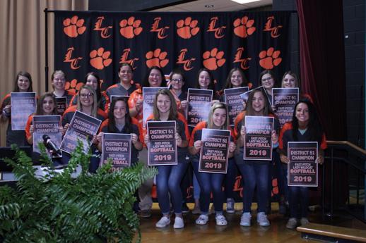 Lynn Camp Softball Team honored at Board