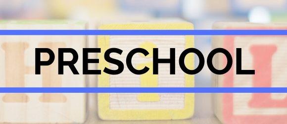 Preschool webpage header image