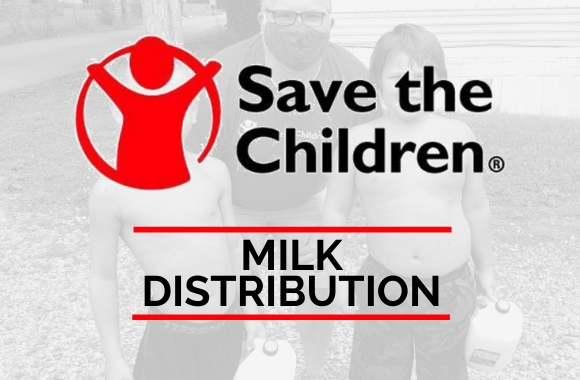 Save the Children logo - Milk Distribution link