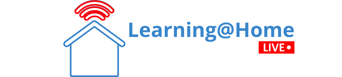 Header image showing icon for Learning at Home and live text