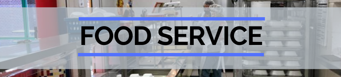 School Food Service header image of kitchen