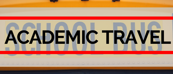 Academic travel page header