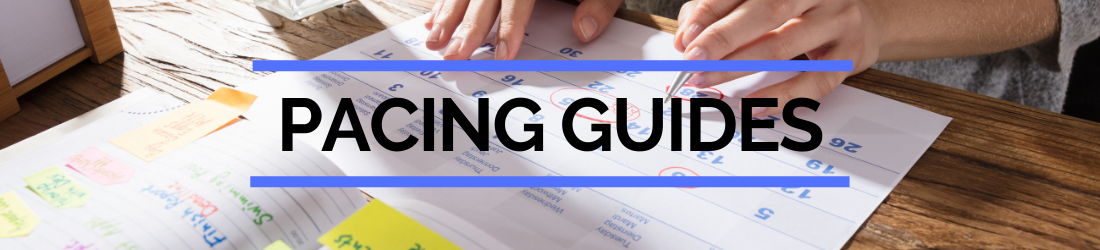 Page header for pacing guides
